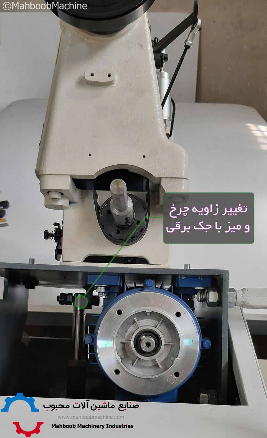 تغییر زاویه چرخ به کمک مکانیزم جک برقی